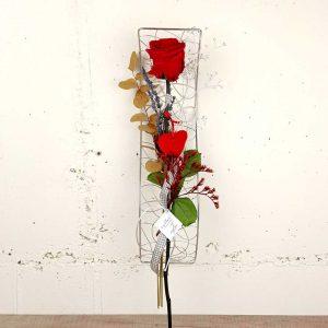 rosa-preservada-estructura-platejada-floristeria-les-flors-igualada