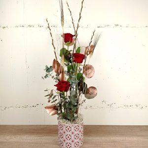 centre-3-rosa-roja-floristeria-les-flors-igualada