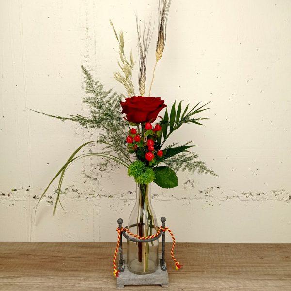 rosa-roja-ampolla-floristeria-les-flors-igualada
