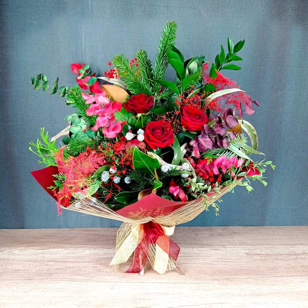 red-christmas-ram-floristeria-les-flos-igualada