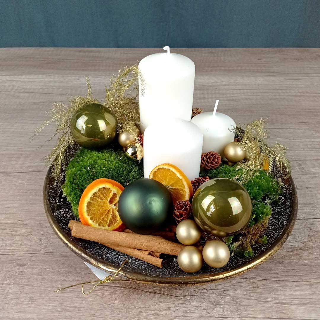 centre-taula-espelmes-regal-floristeria-les-flos-igualada